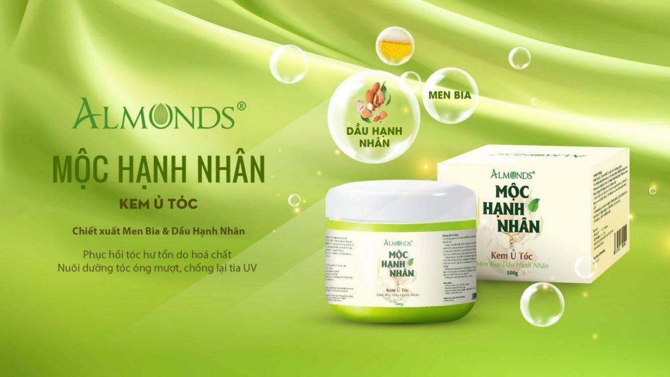 Mỹ phẩm Almonds - Sản phẩm chăm sóc tóc