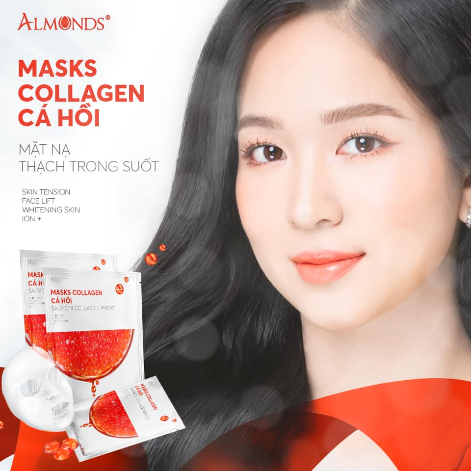 Mặt nạ thạch Collagen ALMONDS