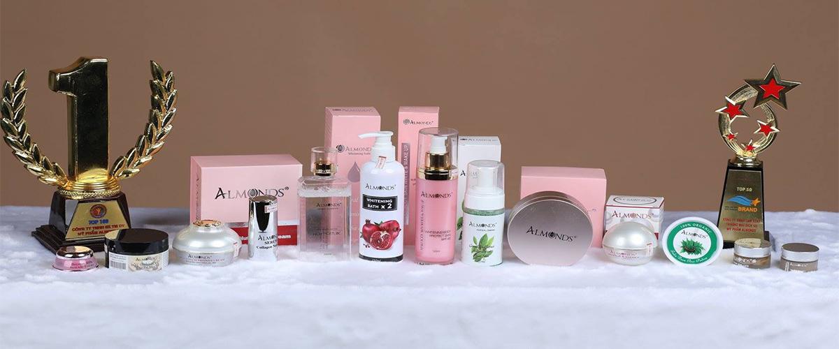Mỹ phẩm thiên nhiên Almonds - Một số mỹ phẩm ngành spa
